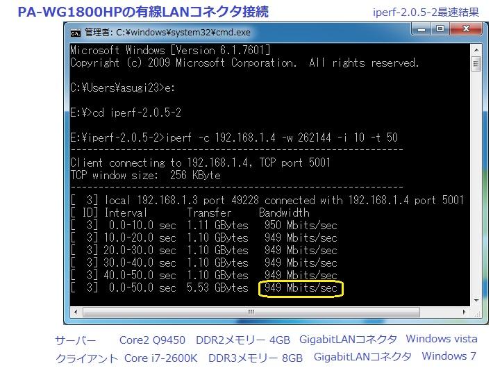 ギガビットネットワーク構築 - 11ac無線LAN通信機器の導入・Gigabit LAN速度検証